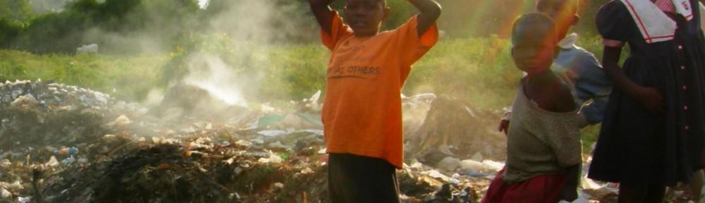 Kids at the dumpsite in Homa Bay, Kenya